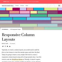 Responsive Column Layouts