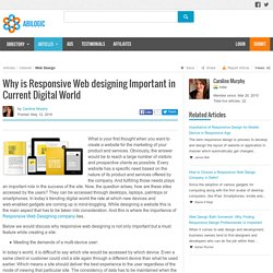 Why is Responsive Web designing Important in Current Digital World