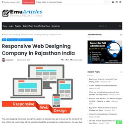 Responsive Web Designing Company in Rajasthan India
