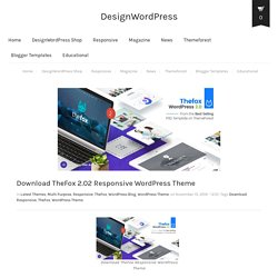 Responsive Wordpress Themes - Design Wordpress
