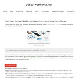 Download Porto v3.4.0 Responsive eCommerce WordPress Theme - DesignWordPress