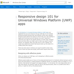 Responsive design 101 for Universal Windows Platform (UWP) apps - Windows app development