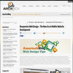 Responsive Web Design - The New Era in Mobile Website Development