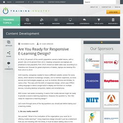 Are You Ready for Responsive E-Learning Design?