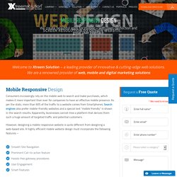 Mobile Website Design and Development Company – Xtreem Solution