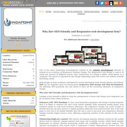 Why hire SEO friendly and Responsive web development firm?