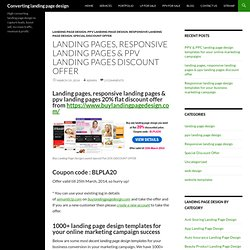 landing pages, responsive landing pages & ppv landing pages discount offer