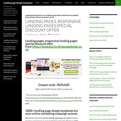 Landing pages, responsive landing pages special discount offer