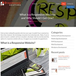What is a Responsive Website and Why Should I Get One?