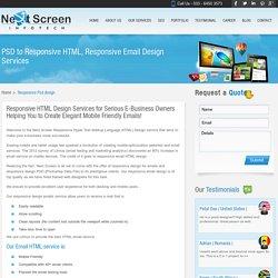 Responsive HTML Email Design, Responsive PSD Design