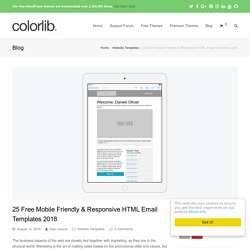 Top 25 Free Responsive HTML Email Templates 2016