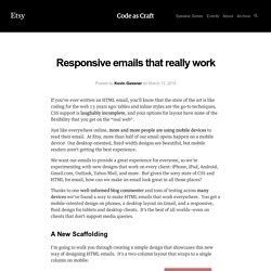 Responsive emails that really work - Code as Craft