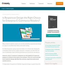 Is Responsive Design the Right Choice for Enterprise E-Commerce Retailers?