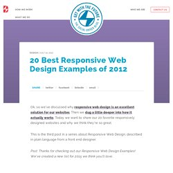 20 Best Responsive Web Design Examples of 2012