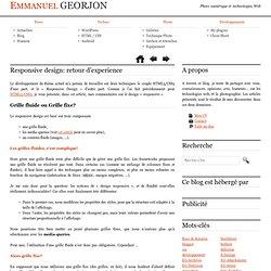 Responsive design: retour d'experience