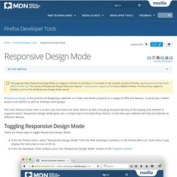 Responsive Design Mode - Firefox Developer Tools