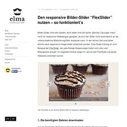 """Den responsive Bilder-Slider """"FlexSlider"""" nutzen"""