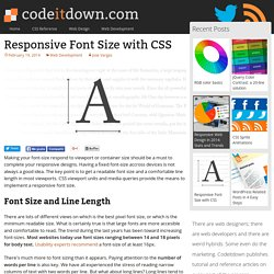 Responsive Font Size with CSS