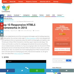 Top 10 FREE Responsive HTML5 Frameworks in 2015