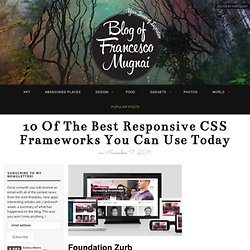 10 of the best responsive CSS frameworks you can use today