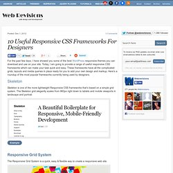 10 Useful Responsive CSS Frameworks For Designers