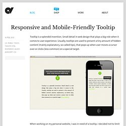 Responsive and Mobile-Friendly Tooltip · Osvaldas Valutis