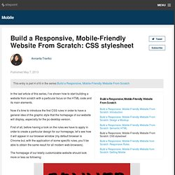Build a Responsive, Mobile-Friendly Website From Scratch: CSS stylesheet