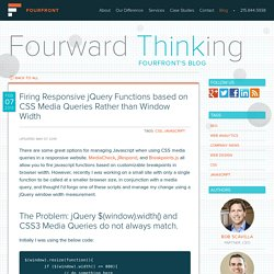 Firing Responsive jQuery Functions based on CSS Media Queries Rather than Window Width