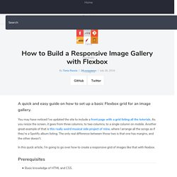How to Build a Responsive Image Gallery with Flexbox – Tania Rascia