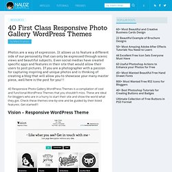 40 First Class Responsive Photo Gallery WordPress Themes