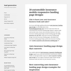auto insurance responsive landing page designs that converts
