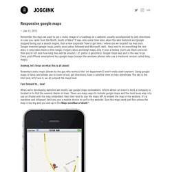 Responsive google maps | Bloggink