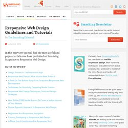 Responsive Web Design Guidelines and Tutorials