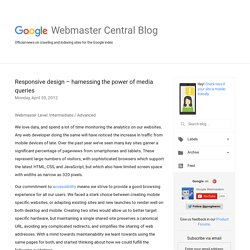 Responsive design – harnessing the power of media queries