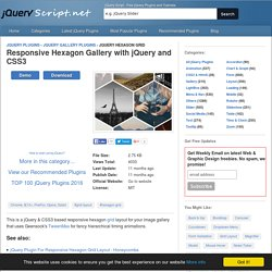 Responsive Hexagon Gallery with jQuery and CSS3