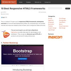 10 Best Responsive HTML5 Frameworks and Tools