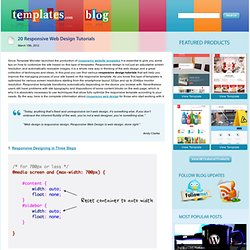 20 Responsive Web Design Tutorials