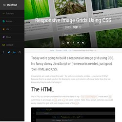 Responsive Image Grids Using CSS Tutorial