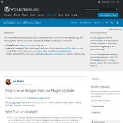 Responsive Images Feature Plugin Update