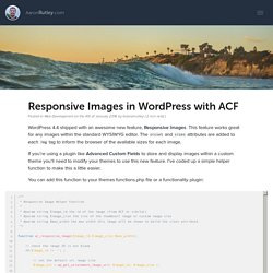 Responsive Images in WordPress with ACF