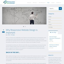 Why-Responsive-Website-Design-is-Important - Shreeyaan Solusmart pvt. ltd.