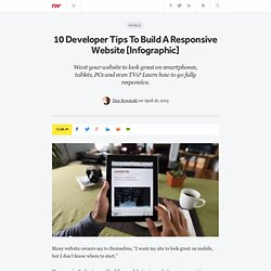 10 Developer Tips To Build A Responsive Website [Infographic]