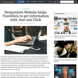 Responsive Website helps Travellers to get information with Just one Click