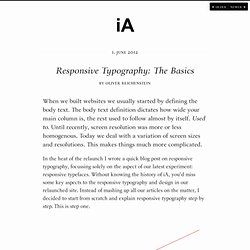 Responsive Typography: The Basics