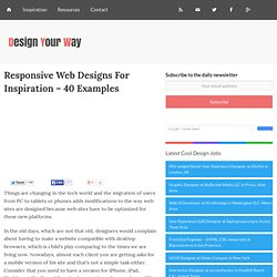 Responsive Web Designs For Inspiration - 40 Examples