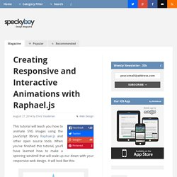 Creating Responsive and Interactive Animations with Raphael.js