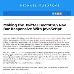 Make the Twitter Bootstrap Nav Bar Responsive With JavaScript