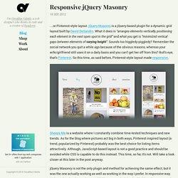 Responsive jQuery Masonry · Osvaldas Valutis