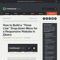 How to Build a Three Line Menu for a Responsive Website in jQuery