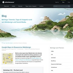 Google Maps im Responsive Webdesign